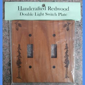Redwood Double Light Switch Plate #4008D HWP