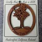 Drive Through Tree Redwood Ornament Handcrafted #1055L HWP