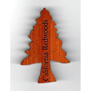 Tree Shaped Redwood Magnet #4001 HWP