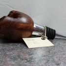 Hand Turned Live Edge Redwood Wine Stopper #1010b