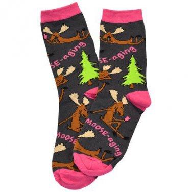 Text Moosaging Crew Socks Size 9-11 #840659581327 LO