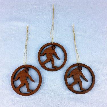 Bigfoot Redwood Christmas Ornament Handcrafted #1054L HWP