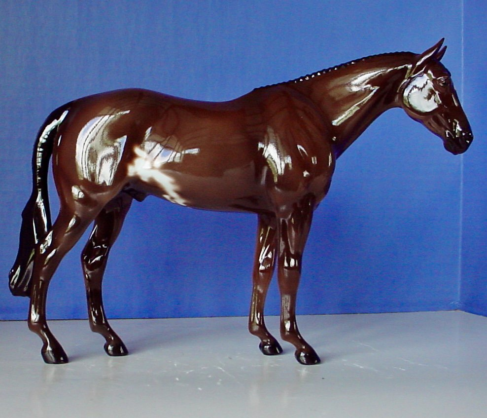 LAST ONE! Model Horse Glossy Dark Bay Sabino Porcelain Lakeshore Collection