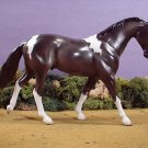 NEW Black Pinto Model Horse Satin Gloss LTD Edition Lakeshore Collection