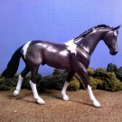 Black Pinto Model Horse Satin Gloss LTD Edition Lakeshore Collection