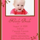 Fancy-Girl Birth Announcements