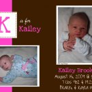 Initial-Girl Birth Announcements