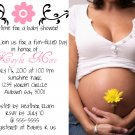 Photo-Girl Baby Shower Invitations