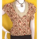Hippie boho paisley models off duty style fashion clothing top vintage inspired 1960s