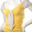 vintage inspired 40s 50s sailor polkadot models off duty style fashion clothing top