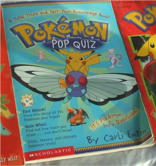 Pokemon Pop Quiz Book