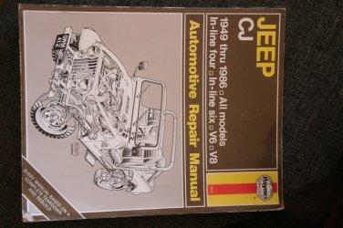 1949-1986 Jeep CJ Repair Manual Haynes