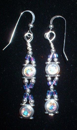 Sterling Silver AB Swarovski Earrings