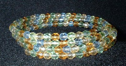 Memory Wire Spring Colored Bracelet