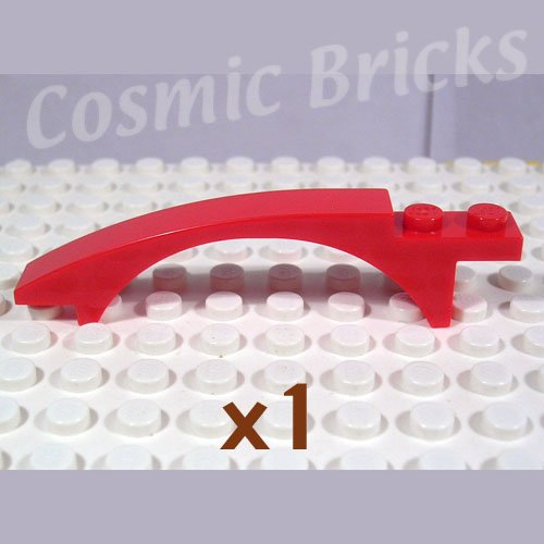 LEGO Red Slope Curved 8x1x1.6 Arch 4247772 50950 (single,N)