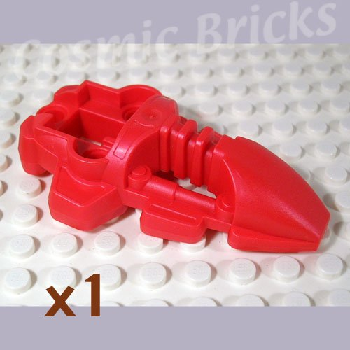 LEGO Metallic Bright Red Bionicle Foot Rahkshi 4191679 44138 (single,N)