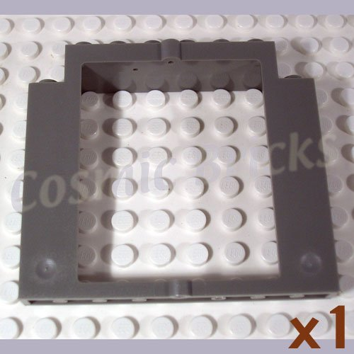LEGO Dark Gray Door Frame 2x8x6 Swivel without Bottom Notches 40253 (single,N)
