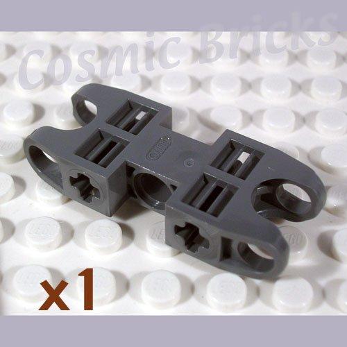 LEGO Dark Bluish Gray Technic Axle Pin Connector 2x5 Two Ball Joint Sockets 4217826 47296 (single,N)