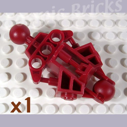 LEGO Dark Red Bionicle Vahki Leg Lower Section 4543192 47328 (single,N)