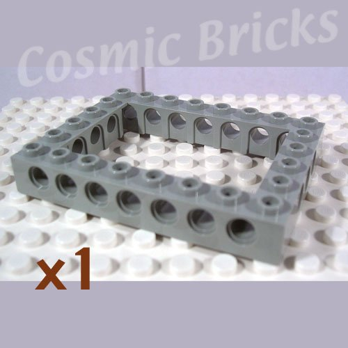 LEGO Light Gray Technic Brick 6x8 Open Center 4193992 40345 (single,N)