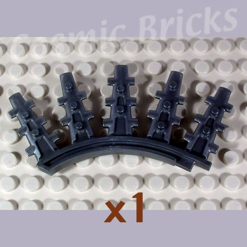 LEGO Flat Silver Bionicle Rahkshi Back Blade 5 spikes Vorahk 44146 (single,N)