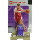 LEGO Toni Kukoc NBA minifig, stand and chrome trading card (single,N)