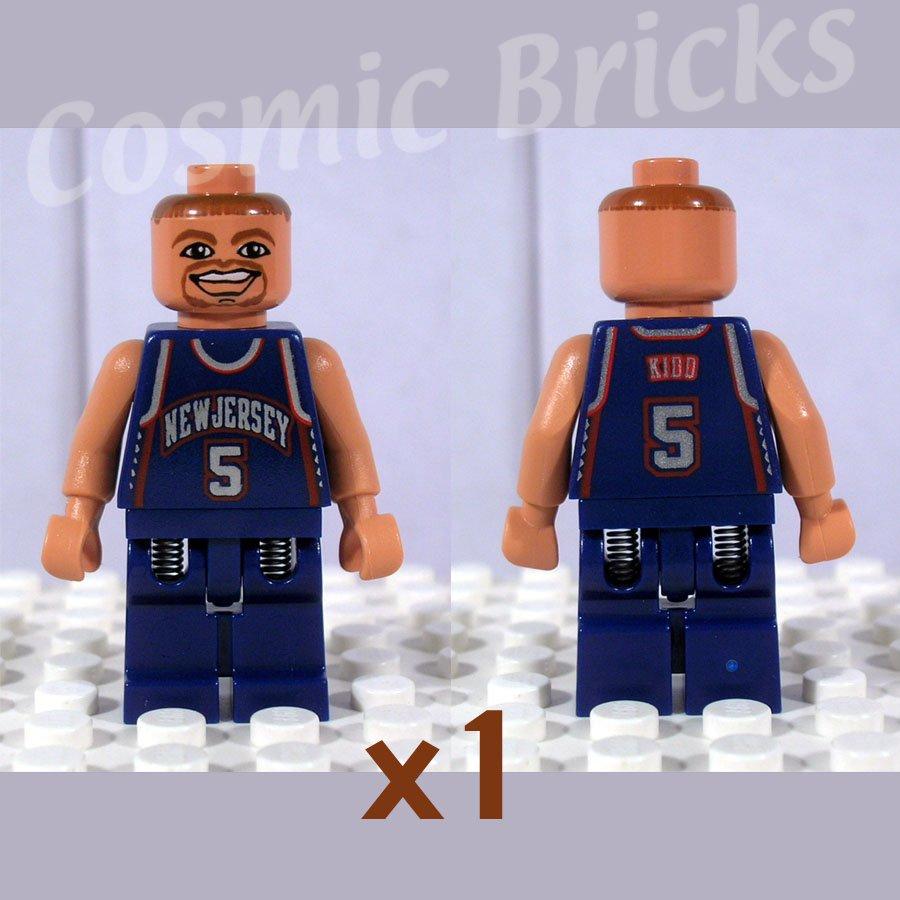 LEGO NBA Jason Kidd New Jersey Nets #5 minifigure (single,N)