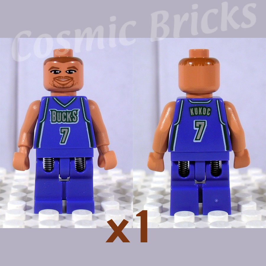 LEGO NBA Toni Kukoc Milwaukee Bucks #7 minifigure (single,N)
