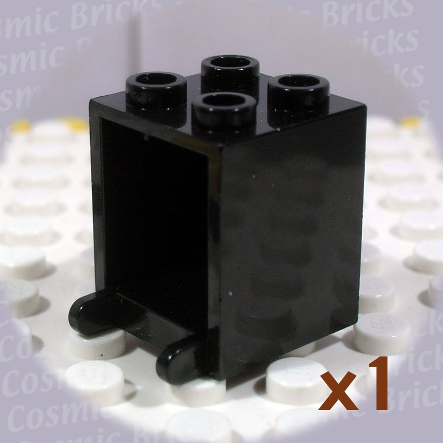 LEGO Black Container Box 2x2x2 Open Studs 4143247 4345 (single,U)