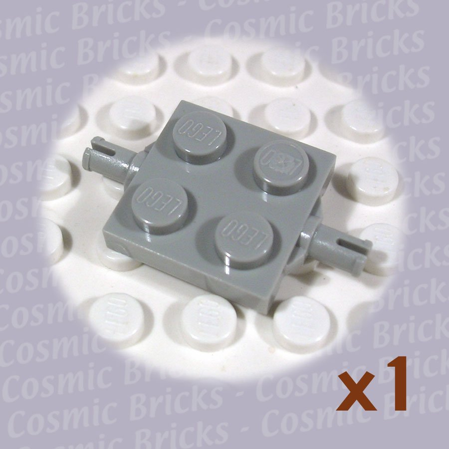 LEGO Light Gray Plate Modified 2x2 Wheels Holder 460002 4600 (single,N)