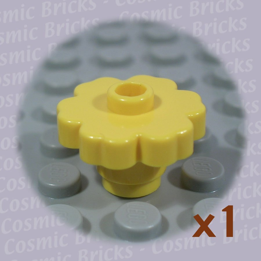 LEGO Yellow Plant Flower 2x2 Rounded 472824 4728 (single,N)