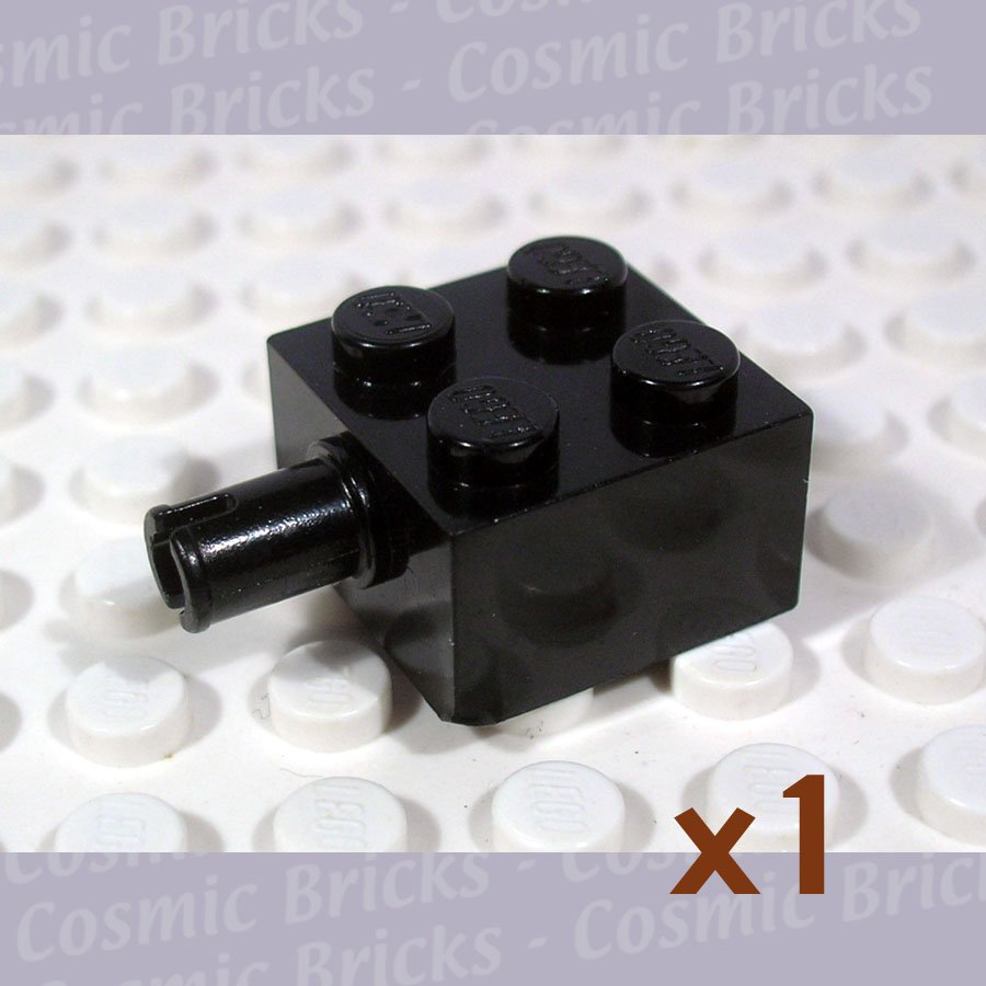 LEGO Black Brick Modified 2x2 Pin No Axle Hole 473026 4730 (single,U)