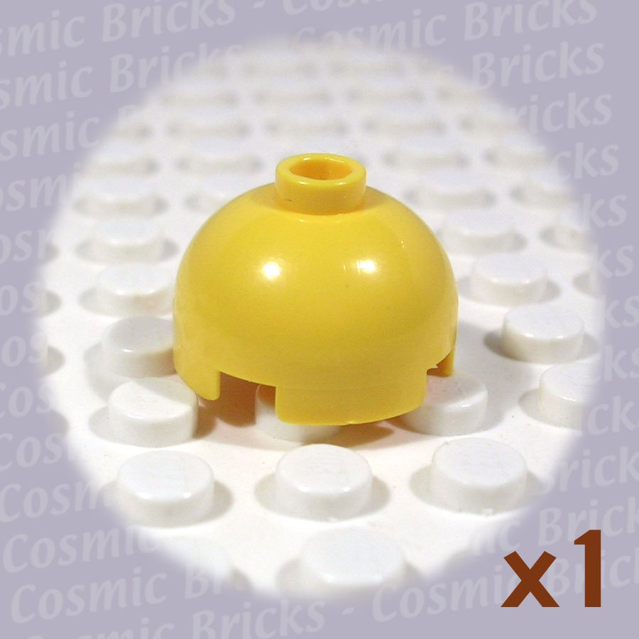 LEGO Yellow Brick Round 2x2 Dome Top 4216656 30367 (single,U)