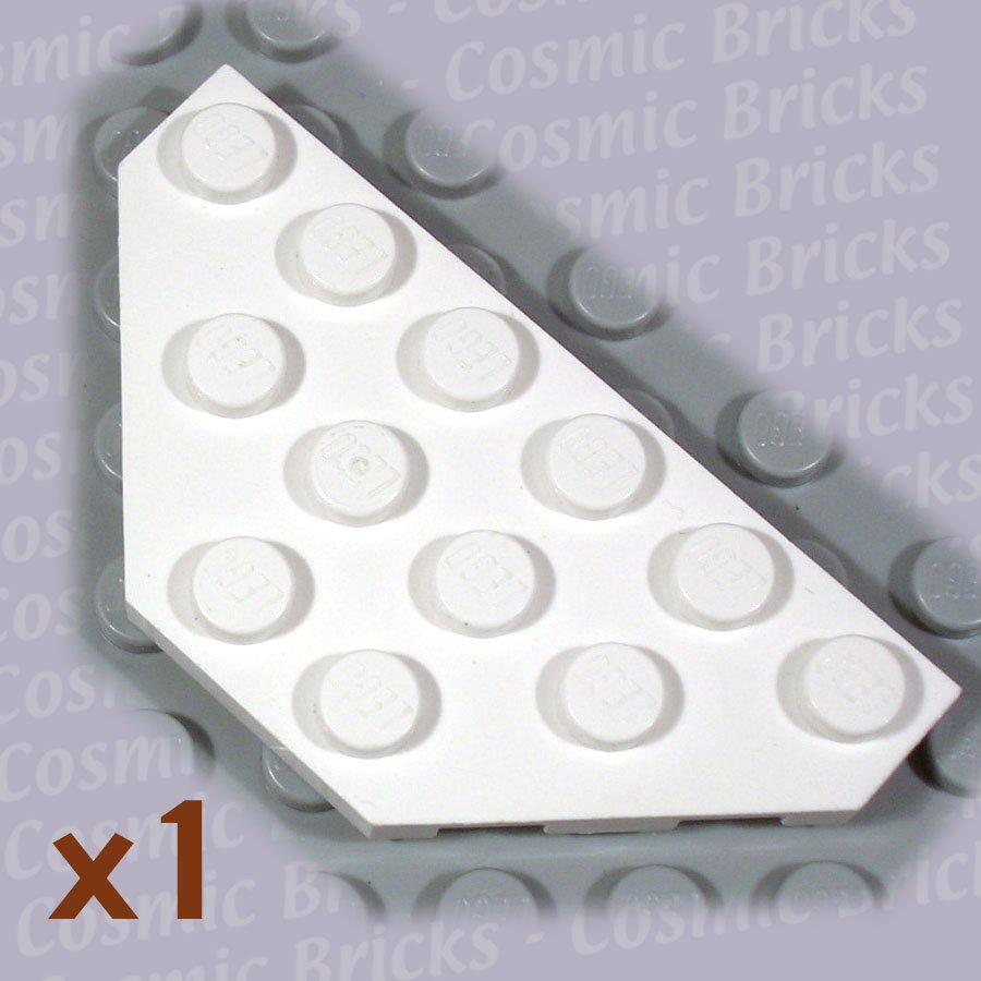 LEGO White Wedge Plate 3x6 Cut Corners 241901 2419 (single,N)