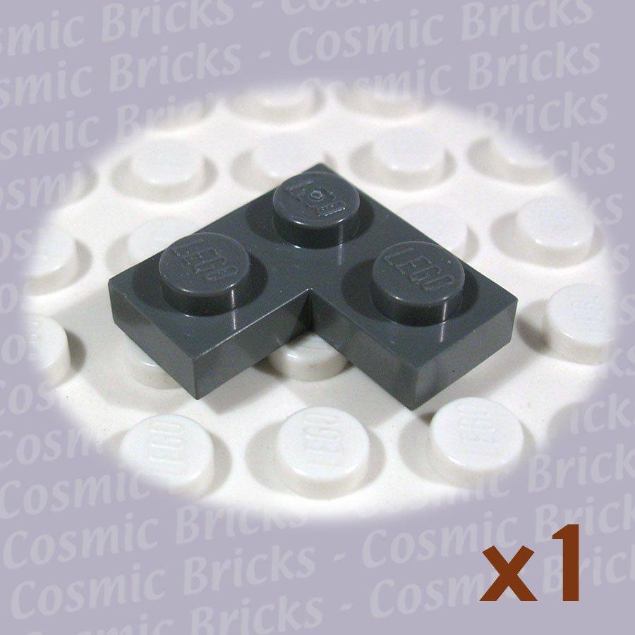 LEGO Dark Bluish Gray Plate 2x2 Corner 4210635 2420 (single,N)