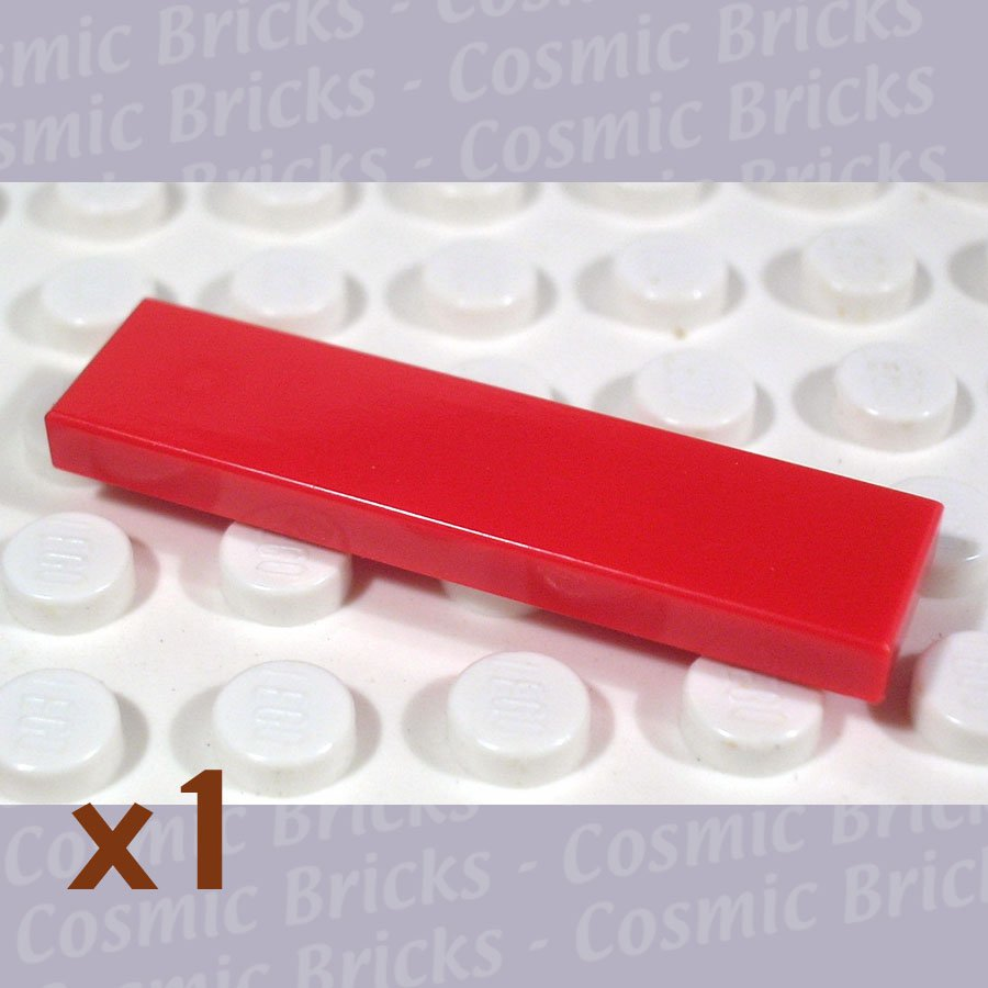LEGO Red Tile 1x4 243121 2431 (single,N)