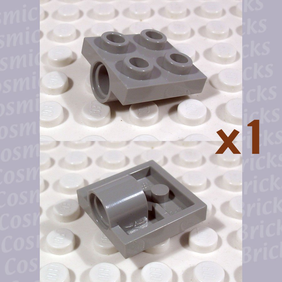 LEGO Light Gray Plate Modified 2x2 with Hole 244402 2444 (single,N)