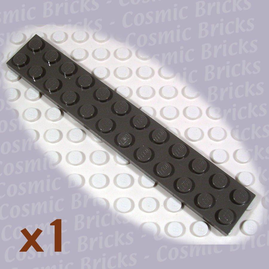 LEGO Dark Gray Plate 2x12 2445 (single,N)