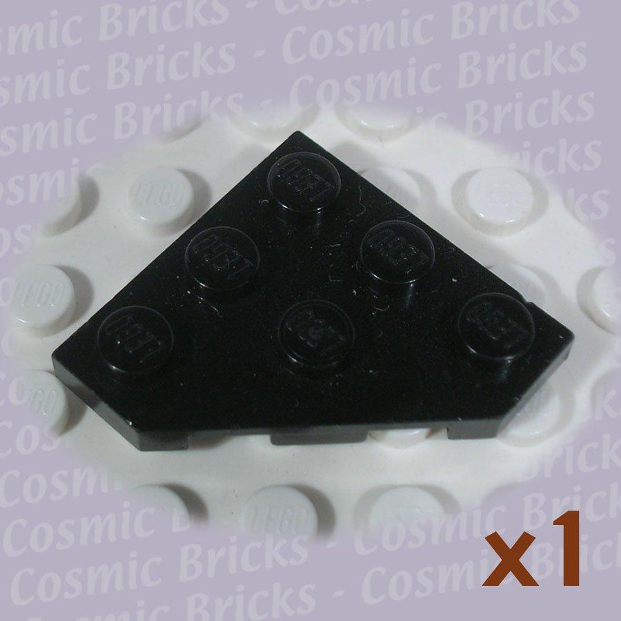 LEGO Black Wedge Plate 3x3 Cut Corner 245021 2450 (single,U)