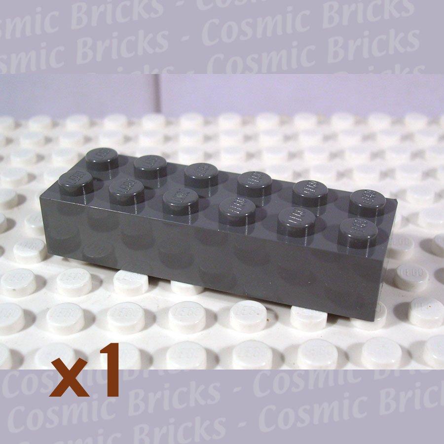 LEGO Dark Bluish Gray Brick 2x6 4210875 2456 (single,N)