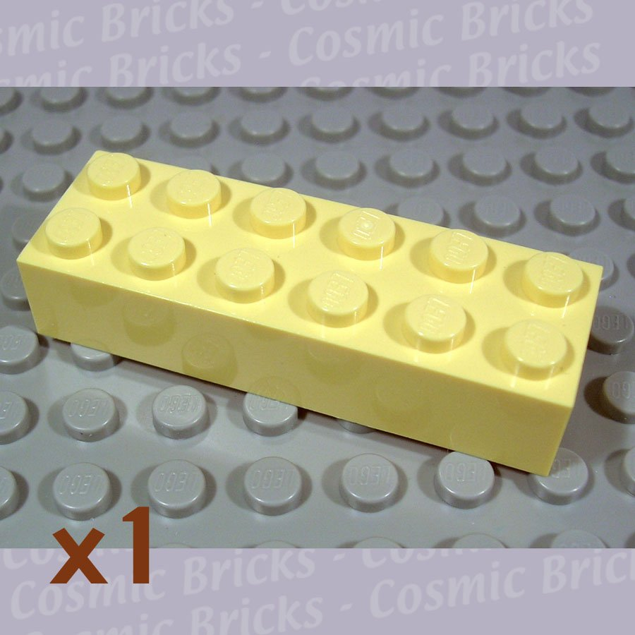 LEGO Light Yellow Brick 2x6 4181145 2456 (single,N)