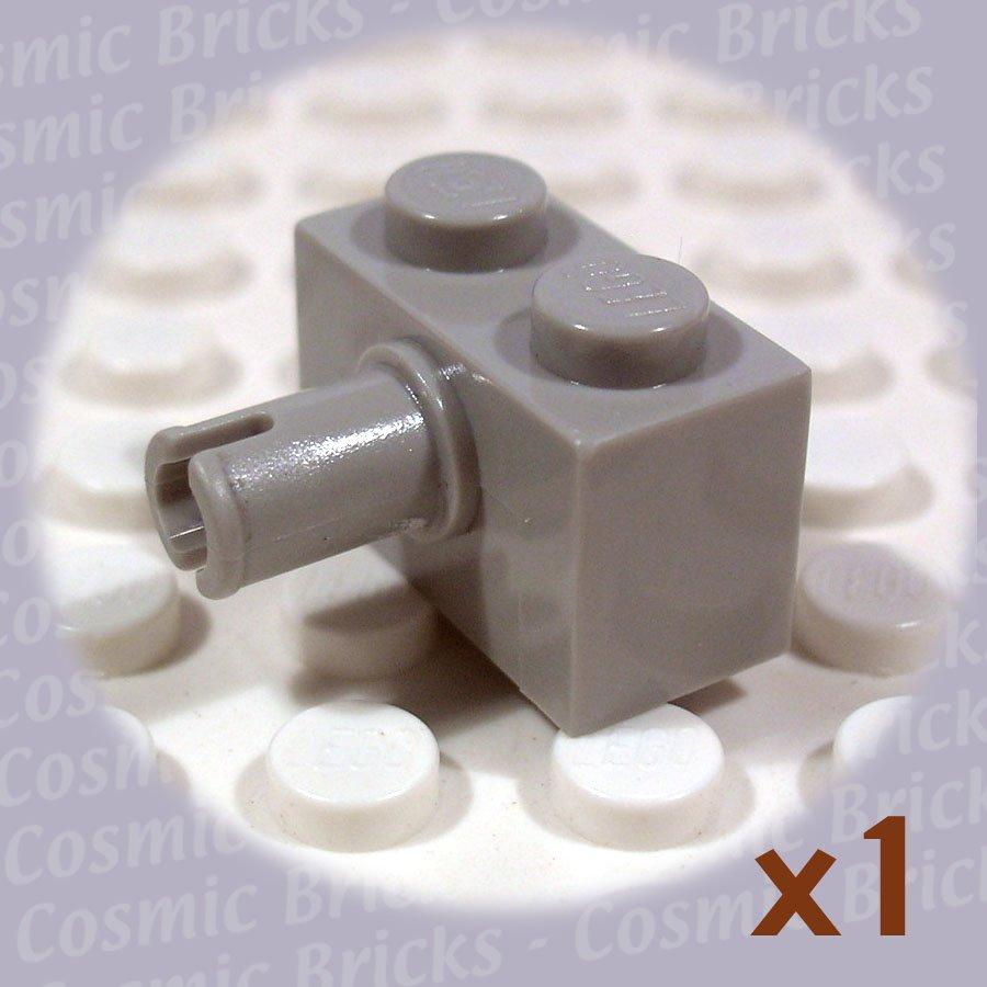 LEGO Light Gray Brick Modified 1x2 Pin 245802 2458 (single,N)