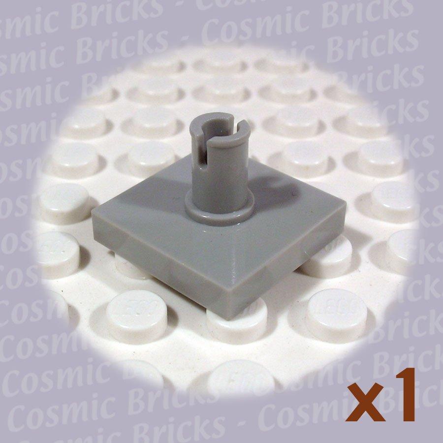 LEGO Light Gray Tile Modified 2x2 with Pin 246002 2460 (single,U)