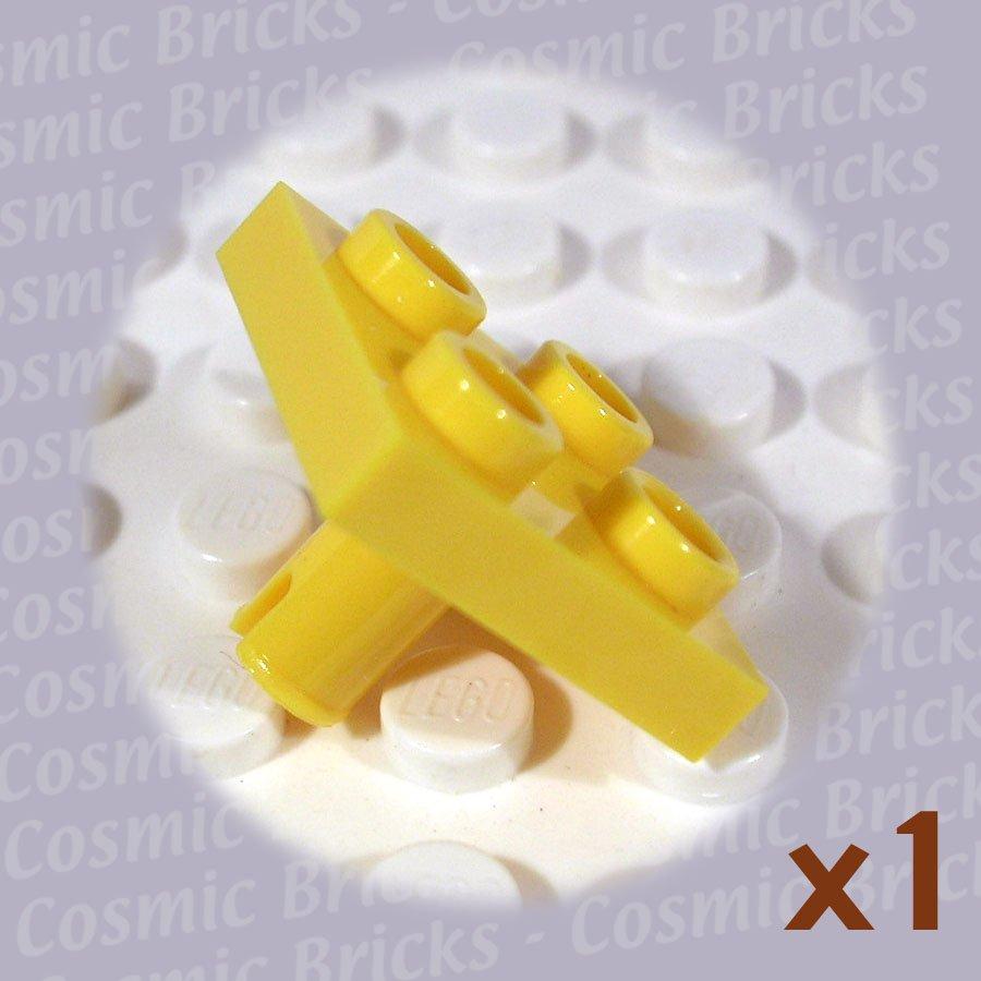 LEGO Yellow Plate Modified 2x2 Pin Bottom 2476 (single,N)