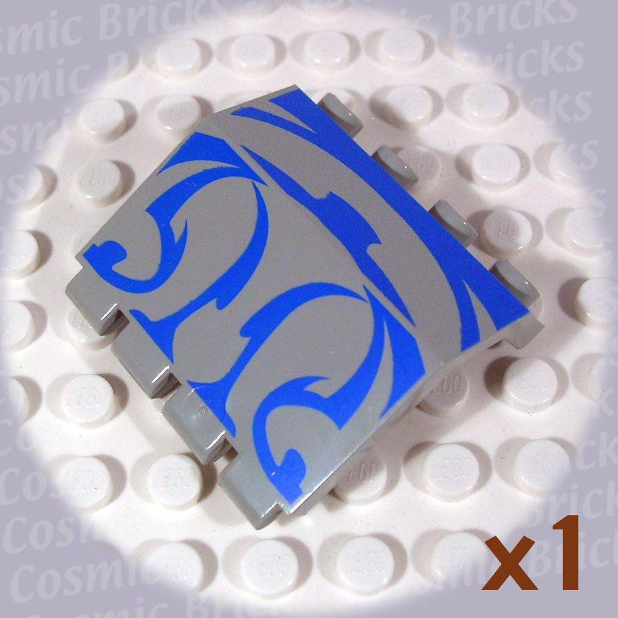 LEGO Light Gray Hinge Panel 2x4x3.3 Blue SW Gungan Sub 2582 (single,N)