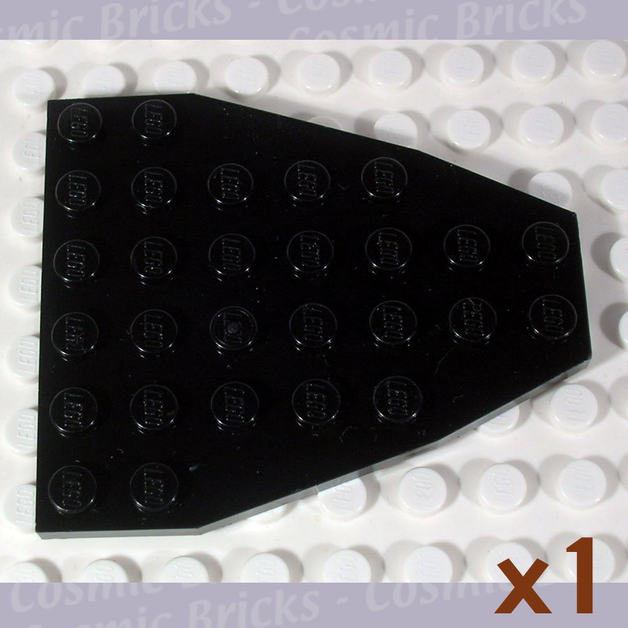 LEGO Black Boat Bow Plate 7x6 without Stud Notches 2625 (single,N)