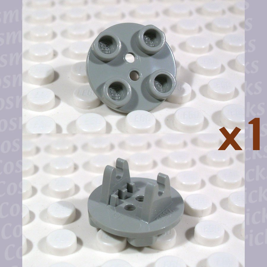 LEGO Light Gray Plate Round 2x2 Thin Wheel Holder 265502 2655 (single,N)