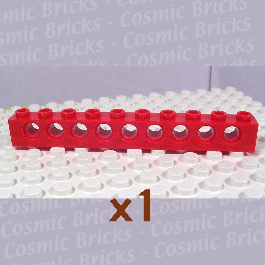 LEGO Red Technic Brick 1x10 with Holes 273021 2730 (single,U)