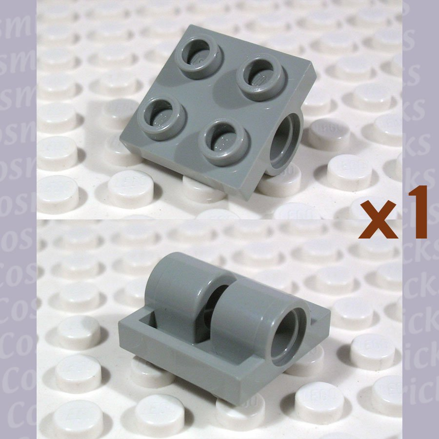 LEGO Light Gray Plate Modified 2x2 with Holes 281702 2817 (single,N)
