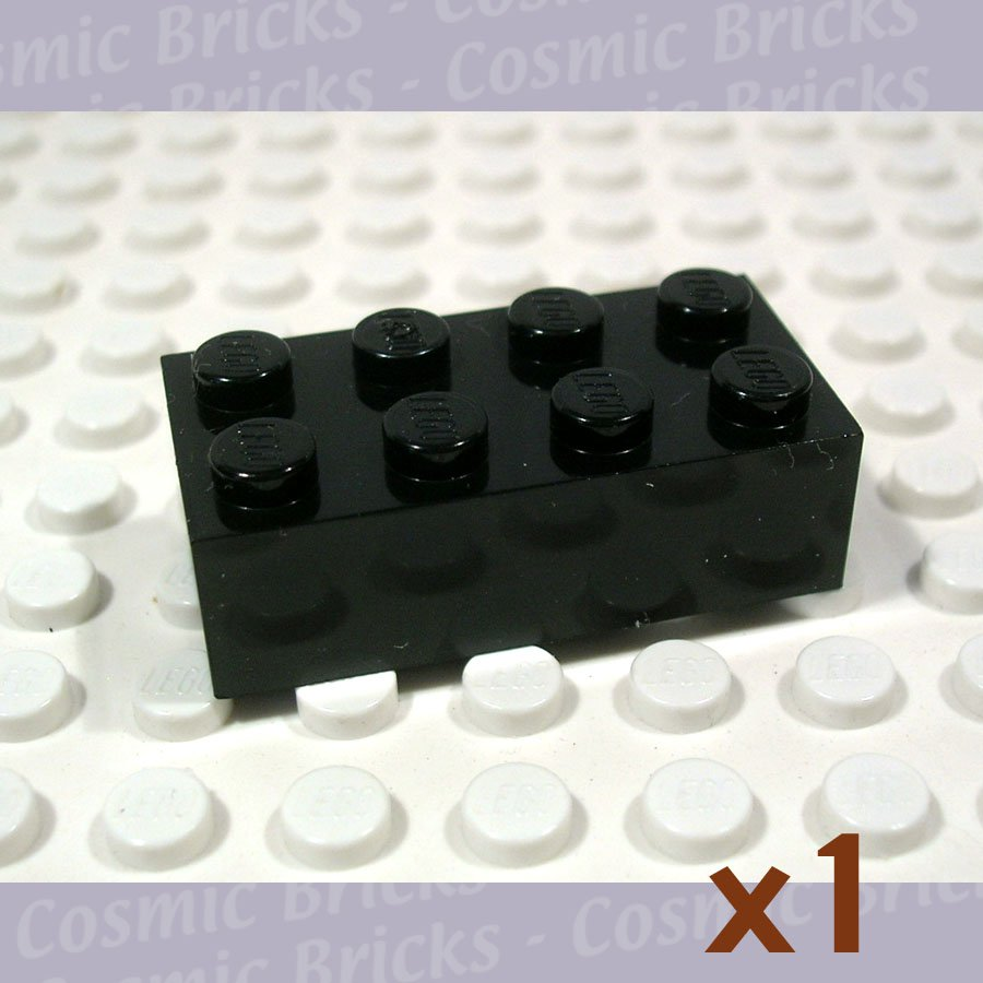10x LEGO NEW 2x4 Black Brick 300126 Brick 3001